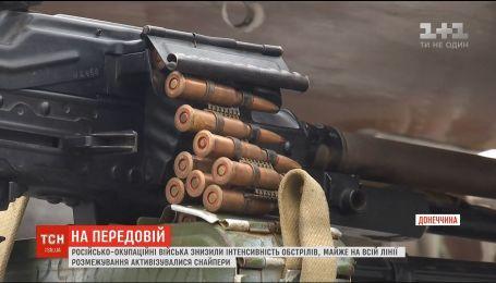 На передовій бойовики знизили інтенсивність обстрілів