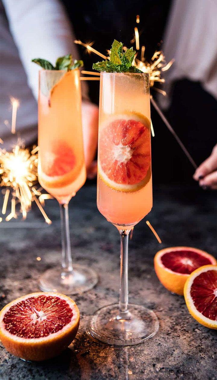 Новогодние коктейли из шампанского
