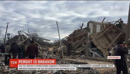 Эксперты устанавливают причины взрыва газового баллона в частном доме на Херсонщине