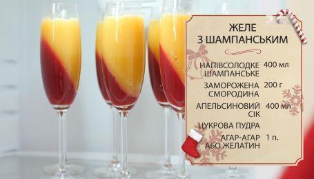 Желе из шампанского от Евгения Клопотенко