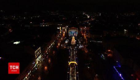 Новорічний Львів з висоти пташиного польоту