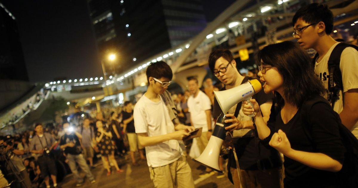 В Гонконге продолжается про-демократическая демонстрация. @ Reuters