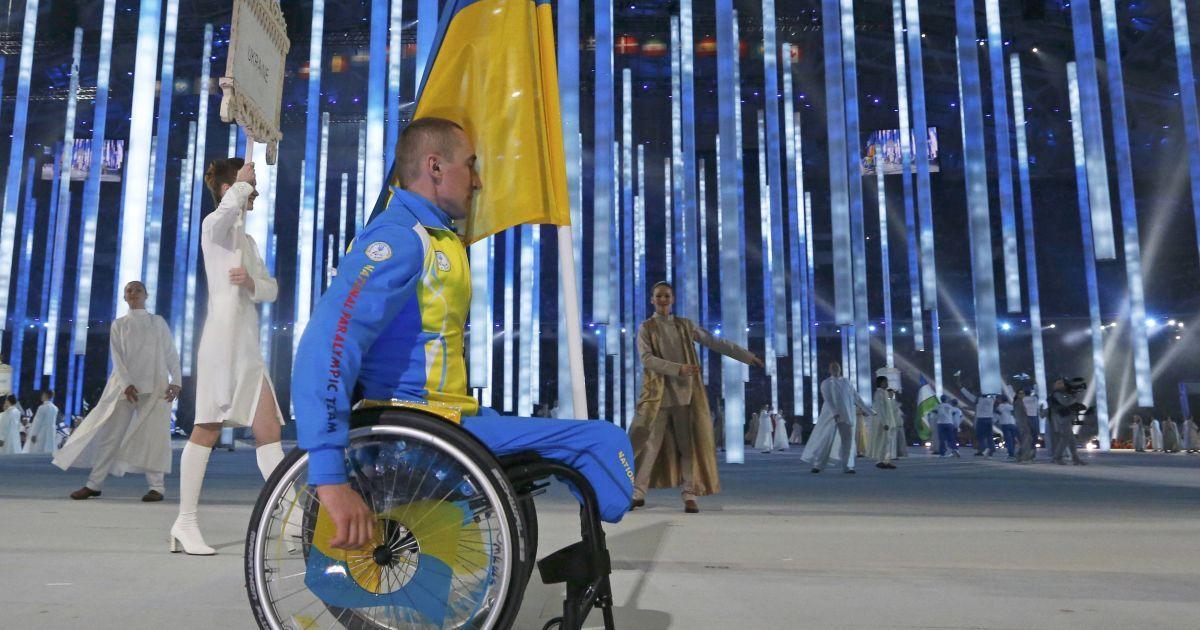Михаил Ткаченко был единственным из украинцев, кто принял участие в открытии Паралимпиады в Сочи @ Reuters