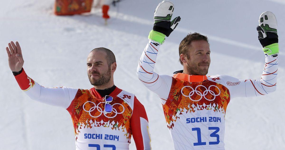 Бронзові призери у супергіганті американець Боде Міллер і канадієць Ян Худек @ Reuters
