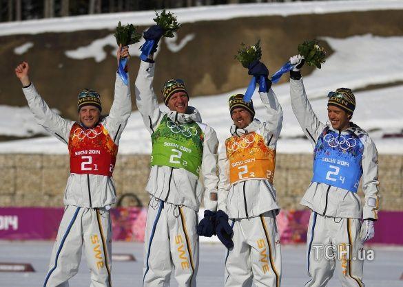 Шведські лижники виграли естафету