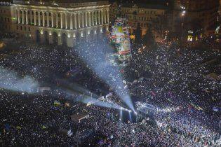 В Новый год полмиллиона украинцев спели хором гимн на Майдане