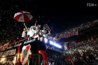 """""""Рівер Плейт"""" разом з фанатами грандіозно відсвяткував перемогу в Кубку Лібертадорес"""