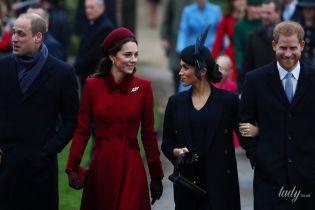 На Рідзво герцогині Меган і Кейт весело потеревенили перед службою у церкві