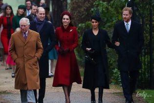 Королевская четверка: Уильям, Кейт, Меган и Гарри отправились на рождественскую службу в Сандрингеме