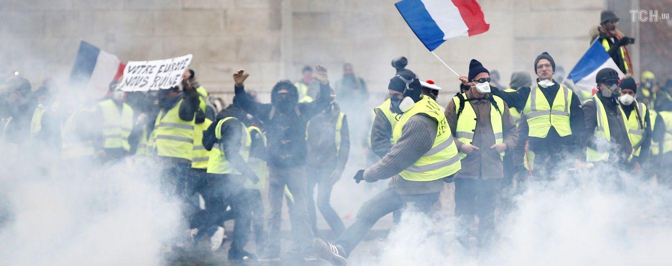 Матч Чемпионата Франции перенесен из-за массовых протестов в Париже