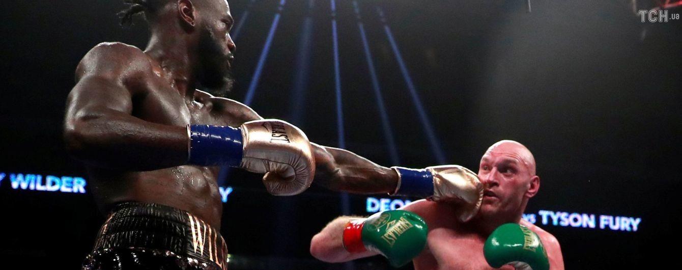 Уайлдер дважды отправил Фьюри в нокдаун, однако супербой завершился вничью