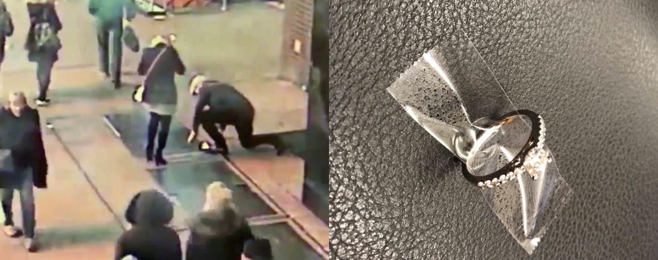 Камери зафільмували, як чоловік зробив пропозицію руки і серця коханій і впустив каблучку