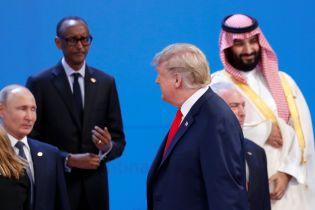 Трамп не потиснув руку Путіну на саміті G20