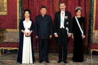 Королева Летиция в короне, а первая леди Китая в жемчугах: в королевском дворце состоялся торжественный банкет