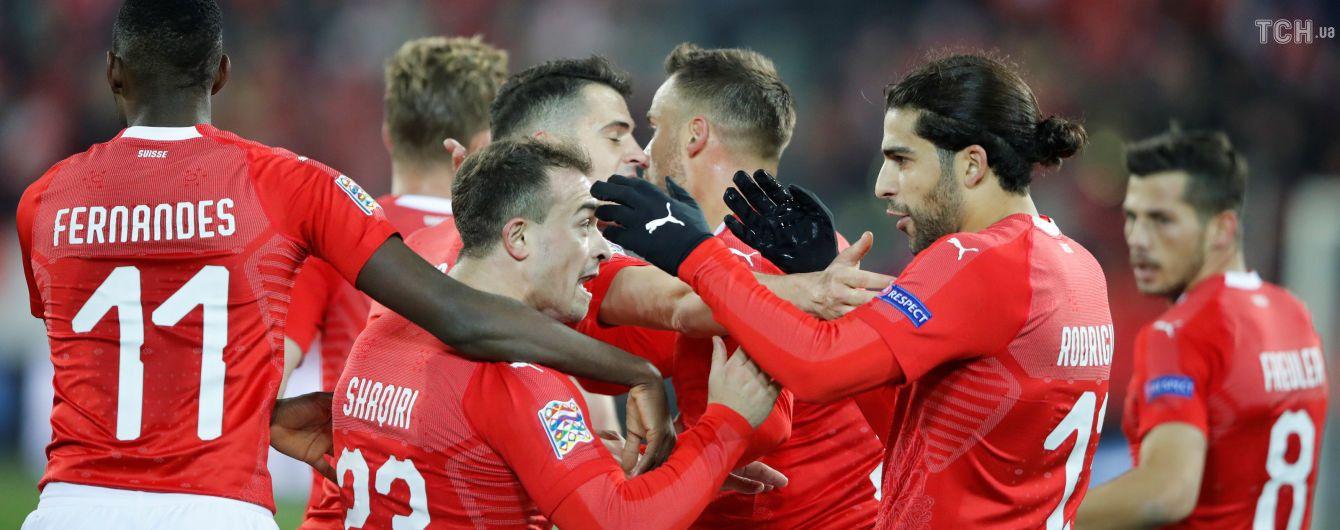 Лига наций. Швейцария сотворила сумасшедший камбэк в матче с Бельгией и вышла в финальный раунд