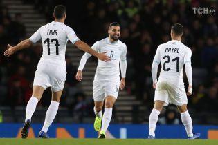 Футболисты сборной Израиля отдали свои кофты шотландским детям, чтобы те не замерзли