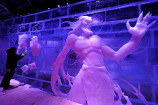 Огромные ледовые скульптуры и 3D-шоу. Reuters показало, как выглядит первый в мире цифровой музей льда