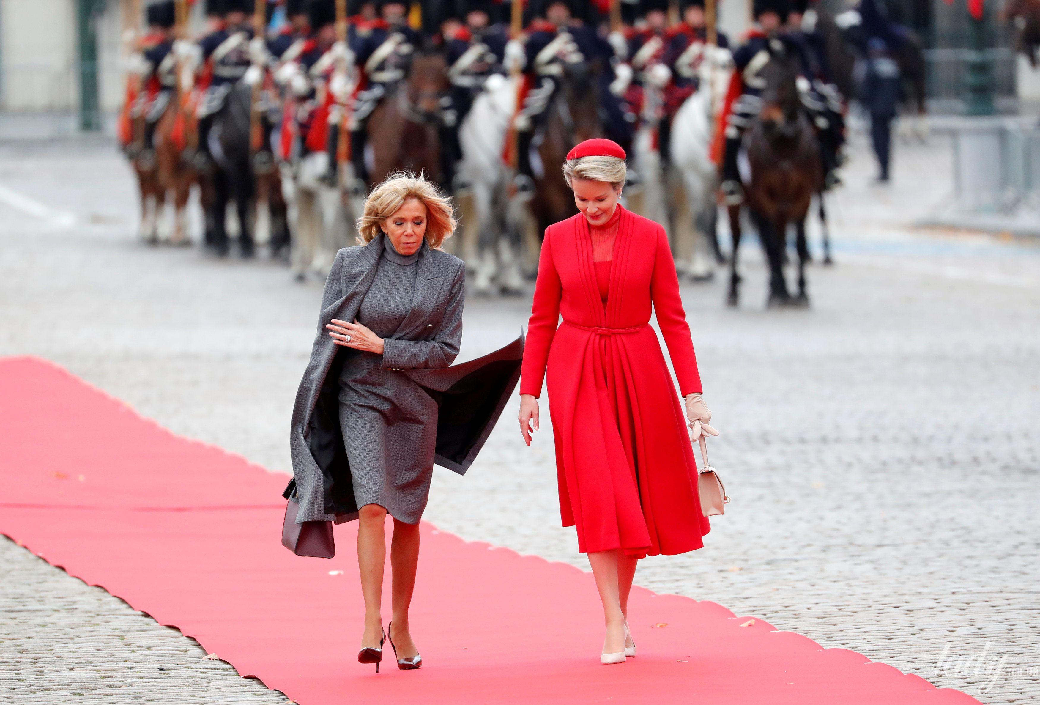 Королева Матильда и король Филипп с президентом Франции Эммануэлем Макроном и первой леди Брижит Макрон_14