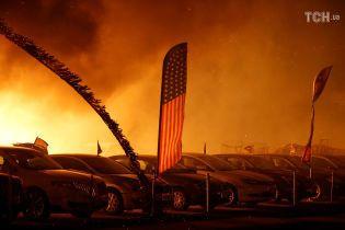 Калифорния в огне: мощный пожар уничтожает леса, дома и автомобили