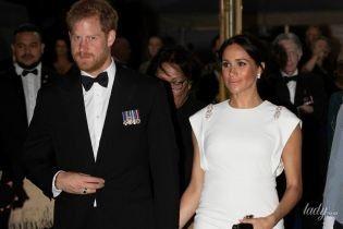 В белом платье и с кольцом принцессы Дианы: новый эффектный выход герцогини Сассекской Меган