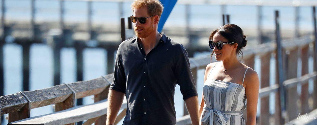 В дешевій сукні з ефектним розрізом: герцогиня Сассекська знову супроводжує принца Гаррі в королівському турі