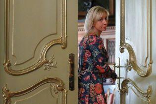 """Захарова заявила, що Росія захищає Європу від """"тероризму та агресії"""""""