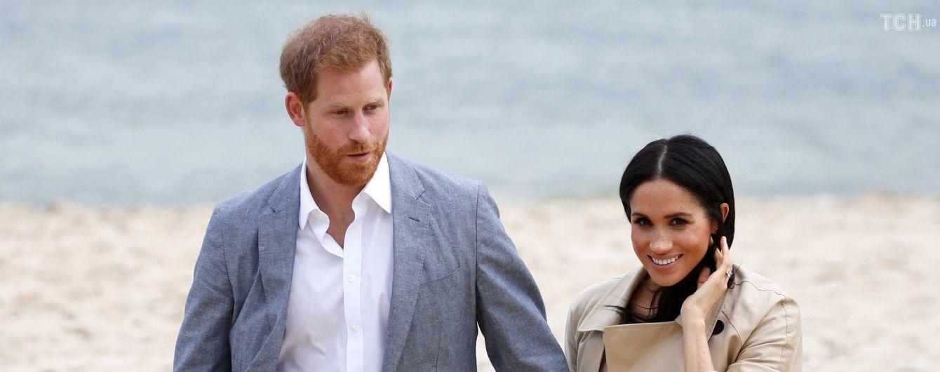 Беременная Меган впервые без каблуков вместе с принцем Гарри появилась в Мельбурне
