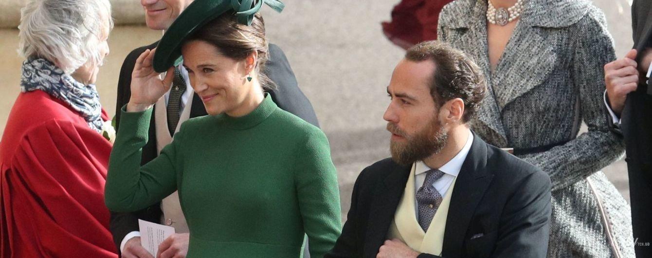 На шпильках на девятом месяце беременности: элегантная Пиппа Миддлтон на королевской свадьбе