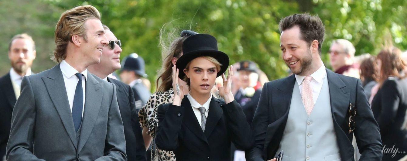 Скандал на королевской свадьбе: Кара Делевинь пришла на церемонию в провокационном образе