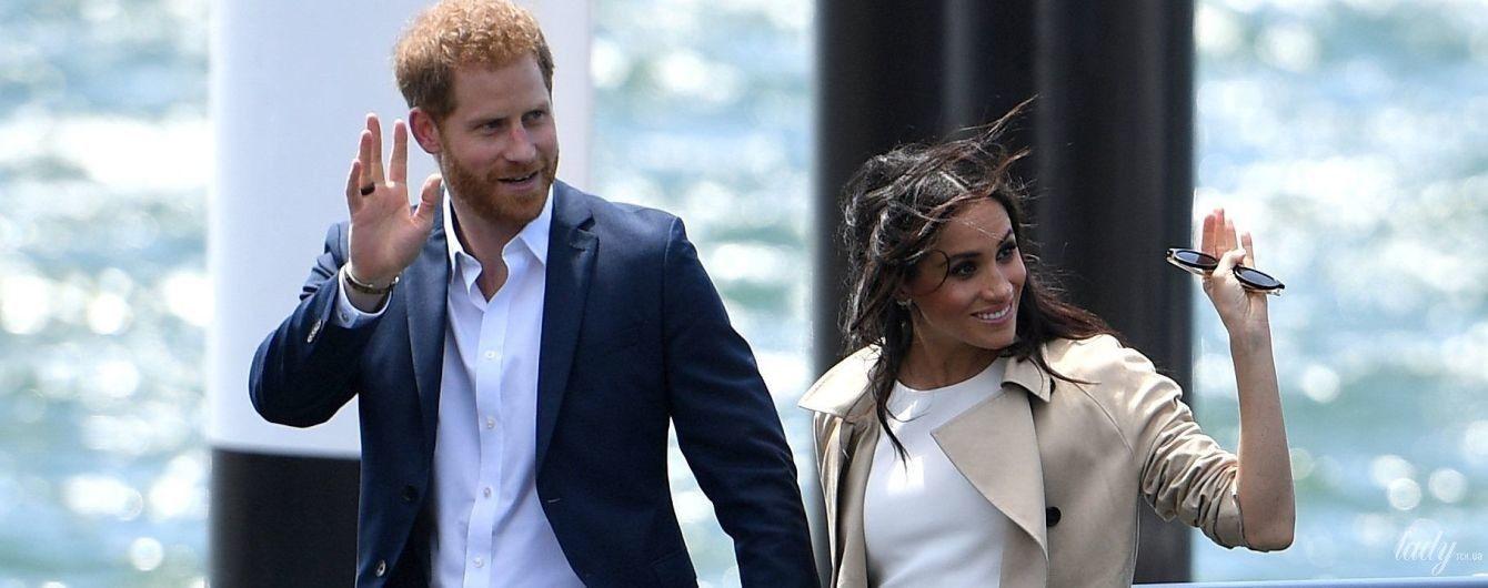 В белом платье и на шпильках: первый выход герцогини Сассекской после объявления о беременности