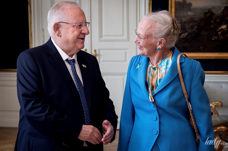 Королева Маргрете II и президент Израиля Реувен Ривлин_3