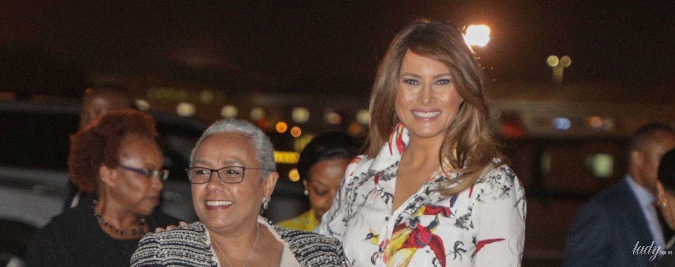 Мелания Трамп в старом платье встретилась с первой леди Кении