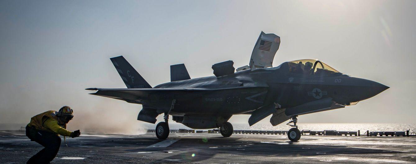 В США разбился новейший истребитель F-35