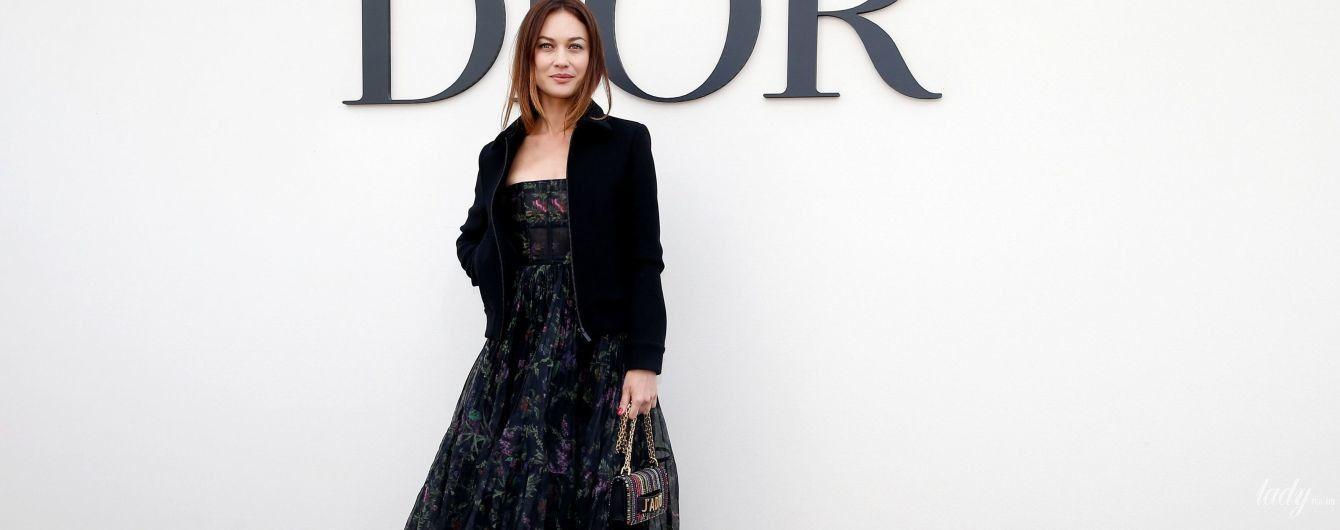 Вся в Dior: Ольга Куриленко на Неделе прет-а-порте в Париже