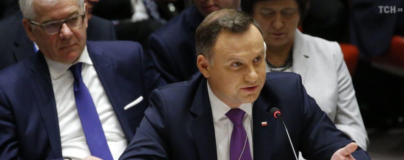 В кортеж польского президента въехал ребенок на самокате