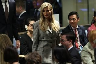 Доньки Трампа на Генеральній асамблеї ООН: Іванка в картатому костюмі, Тіффані у жовтому жакеті