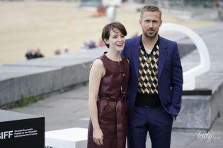 Красивая пара: Клэр Фой и Райан Гослинг представили на кинофестивале свой новый фильм