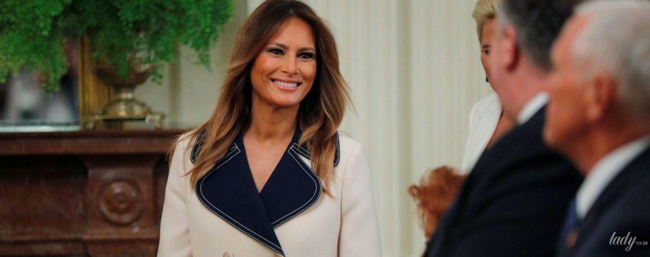 В шикарном платье-пальто: красивый выход Мелании Трамп