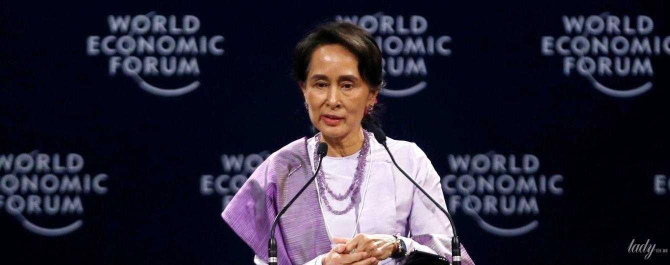 Один день – два образа: государственный советник Мьянмы на экономическом форуме