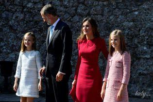 Красивые и нарядные: испанская королевская семья на торжественной службе
