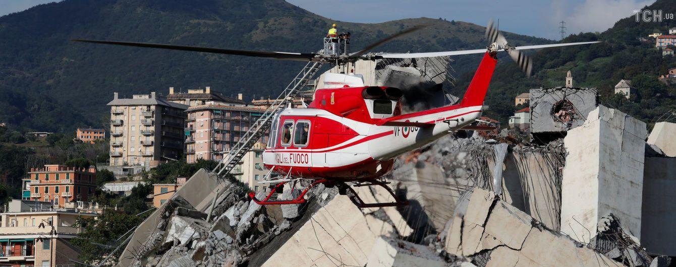 Обвал моста в Генуе: у пострадавшей украинки сломан позвоночник