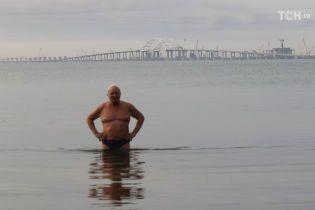 Проліт споруджуваної частини Кримського моста звалився у воду