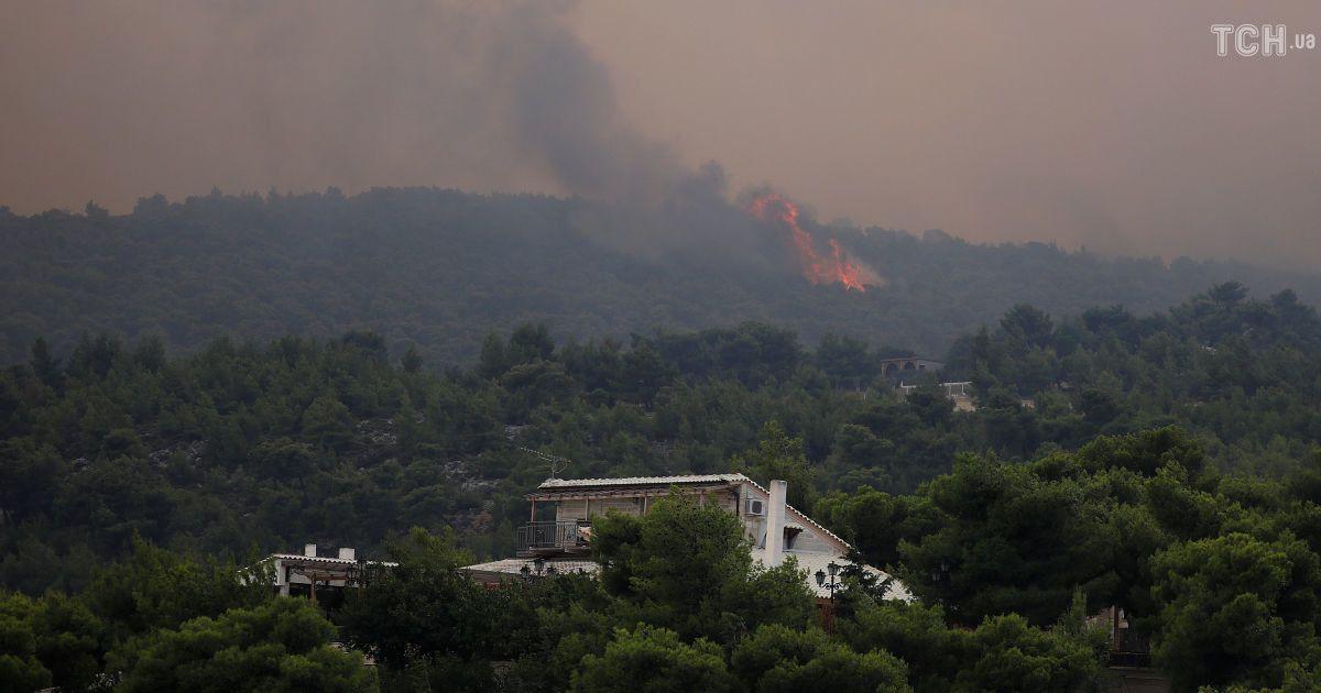 Лесные пожары в Греции @ Reuters