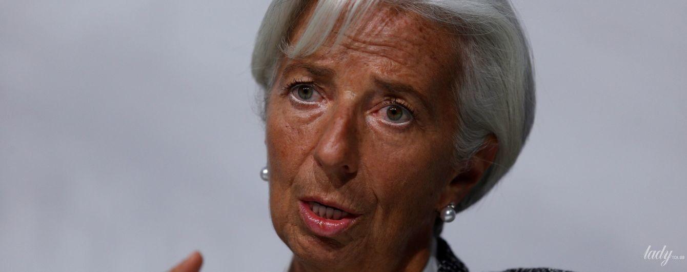 У твідовому костюмі і з перловими прикрасами: діловий образ глави Міжнародного валютного фонду