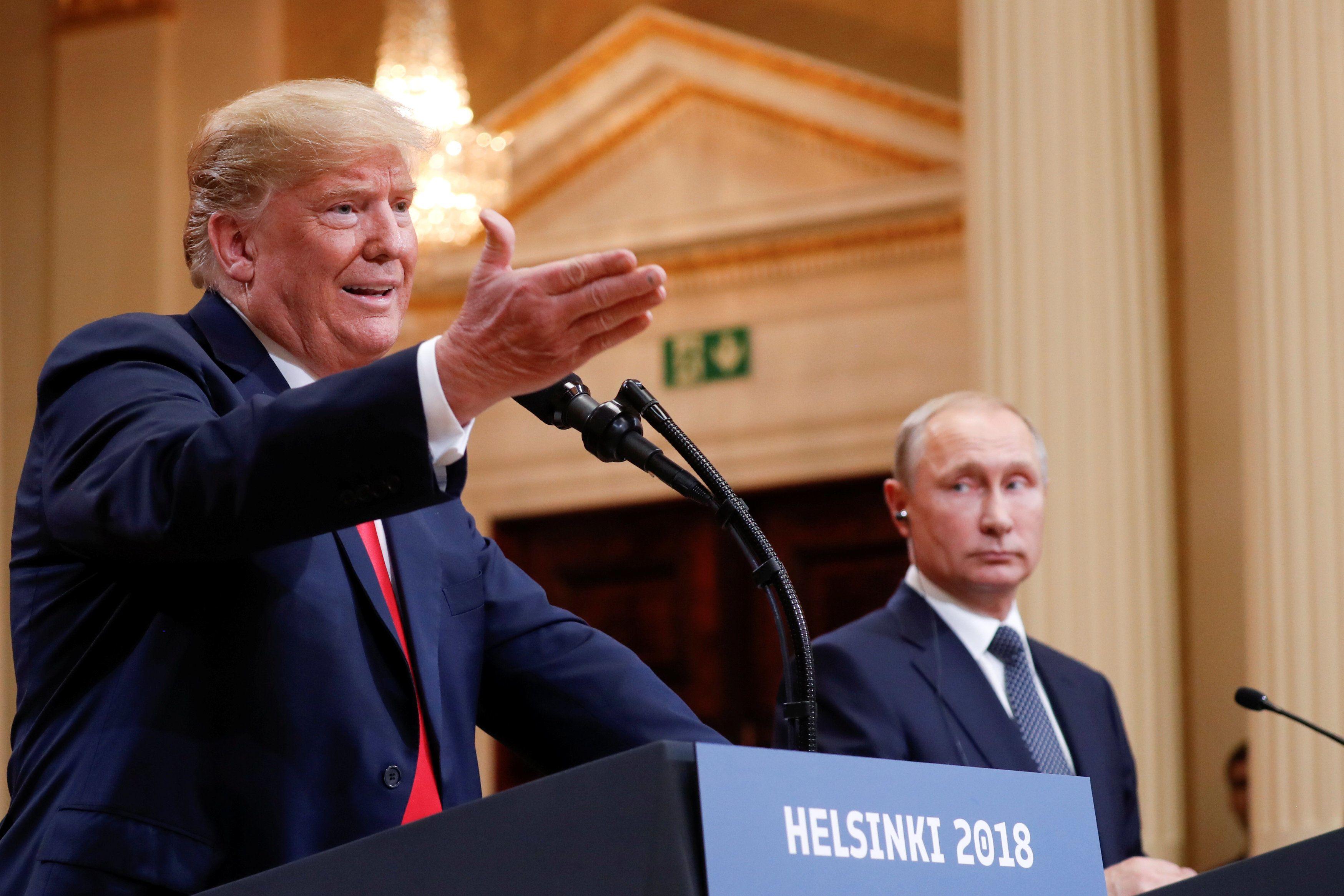 Трамп і Путін на прес-конференції