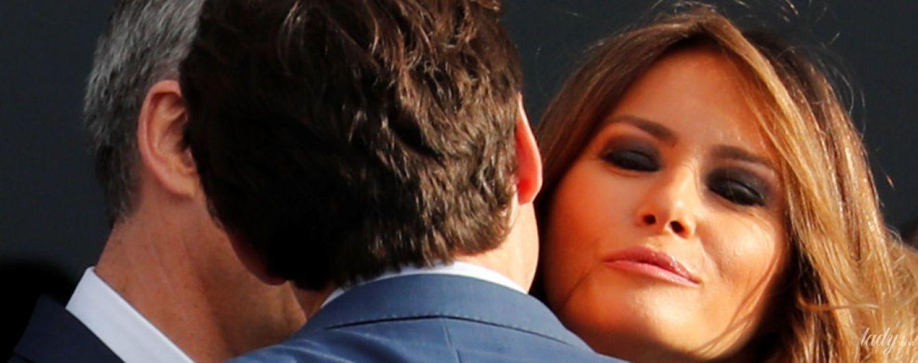 Надела прозрачное платье и целовалась с Трюдо: Мелания Трамп на банкете в Брюсселе