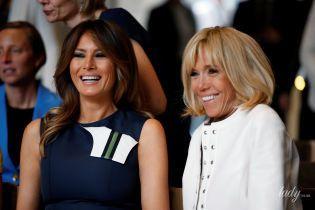 Как подруги: Брижит Макрон и Мелания Трамп на саммите НАТО