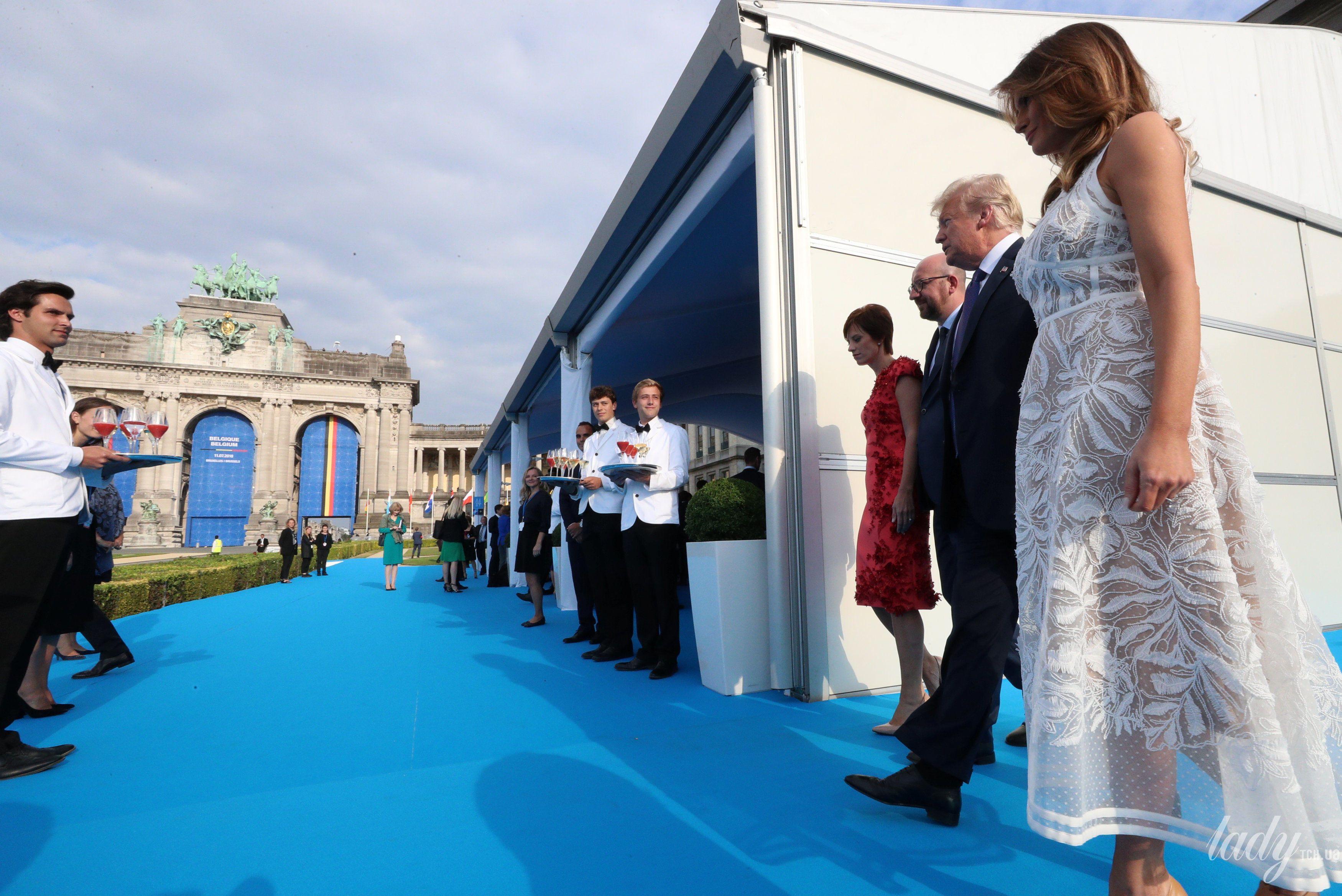 Мелания Трамп на саммите НАТО_7