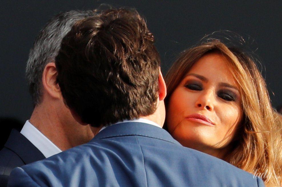 Мелания Трамп на саммите НАТО_13