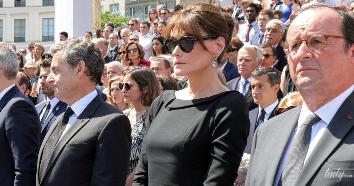 У чорній сукні міді: елегантний образ екс-першої леді Франції Карли Бруні